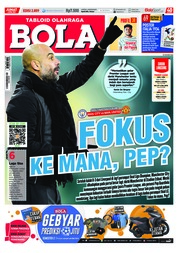 Cover Majalah Tabloid Bola Sabtu ED 2859 April 2018