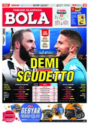 Cover Majalah Tabloid Bola Sabtu ED 2863 April 2018