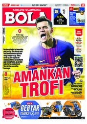Cover Majalah Tabloid Bola Sabtu ED 2865 April 2018
