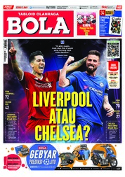 Cover Majalah Tabloid Bola Sabtu ED 2869 Mei 2018