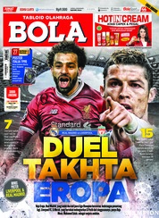 Cover Majalah Tabloid Bola Sabtu ED 2873 Mei 2018
