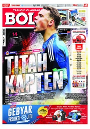 Cover Majalah Tabloid Bola Sabtu ED 2880 Juni 2018