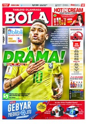 Cover Majalah Tabloid Bola Sabtu ED 2884 Juli 2018