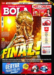 Cover Majalah Tabloid Bola Sabtu ED 2886 Juli 2018