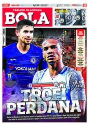 Cover Majalah Tabloid Bola Sabtu ED 2892 Agustus 2018