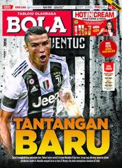 Cover Majalah Tabloid Bola Sabtu ED 2896 Agustus 2018