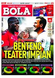 Cover Majalah Tabloid Bola Sabtu ED 2898 Agustus 2018