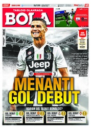 Cover Majalah Tabloid Bola Sabtu ED 2900 Agustus 2018