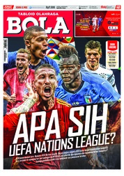 Cover Majalah Tabloid Bola Sabtu ED 2902 September 2018