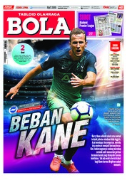Cover Majalah Tabloid Bola Sabtu ED 2906 September 2018