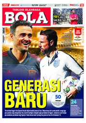 Cover Majalah Tabloid Bola Sabtu ED 2912 Oktober 2018