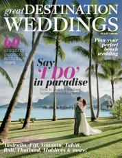 Great DESTINATION WEDDINGS Magazine Cover 2016