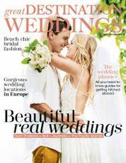 Great DESTINATION WEDDINGS Magazine Cover 2017