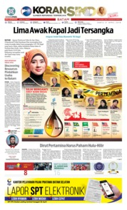 Cover KORAN SINDO BATAM 21 April 2018