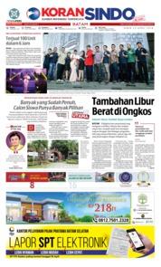 Cover KORAN SINDO BATAM 23 April 2018