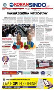 Cover KORAN SINDO BATAM 25 April 2018