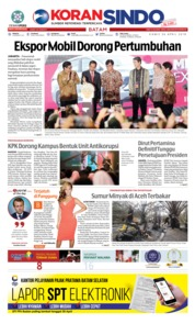 Cover KORAN SINDO BATAM 26 April 2018