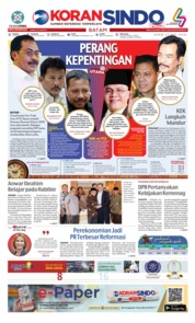 Cover KORAN SINDO BATAM 21 Mei 2018