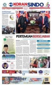 Cover KORAN SINDO BATAM 13 Juni 2018