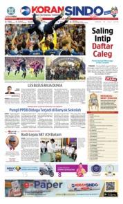 Cover KORAN SINDO BATAM 16 Juli 2018