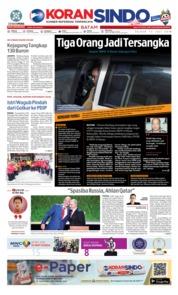 Cover KORAN SINDO BATAM 17 Juli 2018
