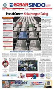 Cover KORAN SINDO BATAM 19 Juli 2018