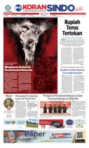 Cover KORAN SINDO BATAM 21 Juli 2018