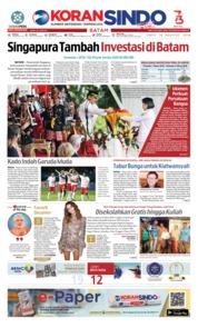 Cover KORAN SINDO BATAM 18 Agustus 2018