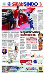 Cover KORAN SINDO BATAM 20 Agustus 2018