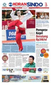 Cover KORAN SINDO BATAM 21 Agustus 2018