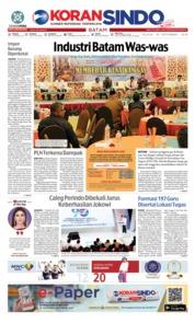 Cover KORAN SINDO BATAM 18 September 2018
