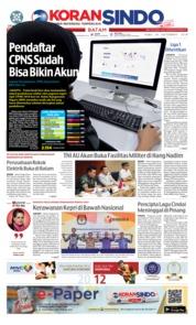 Cover KORAN SINDO BATAM 26 September 2018
