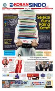 Cover KORAN SINDO BATAM 15 Oktober 2018
