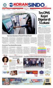 Cover KORAN SINDO BATAM 19 Oktober 2018