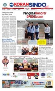 Cover KORAN SINDO BATAM 23 Oktober 2018