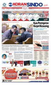 Cover KORAN SINDO BATAM 07 Desember 2018