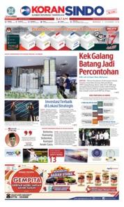 Cover KORAN SINDO BATAM 09 Desember 2018