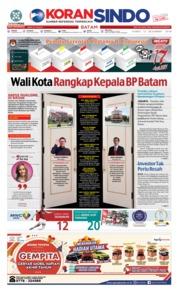Cover KORAN SINDO BATAM 13 Desember 2018