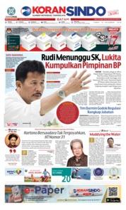 Cover KORAN SINDO BATAM 14 Desember 2018