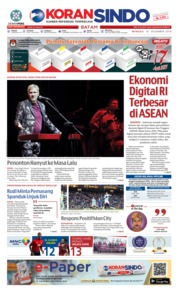 Cover KORAN SINDO BATAM 16 Desember 2018