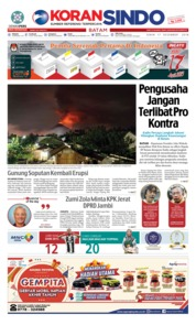Cover KORAN SINDO BATAM 17 Desember 2018
