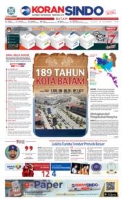 Cover KORAN SINDO BATAM 18 Desember 2018