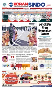 Cover KORAN SINDO BATAM 19 Desember 2018