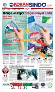 Cover KORAN SINDO BATAM 21 Januari 2019