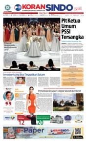 Cover KORAN SINDO BATAM 16 Februari 2019