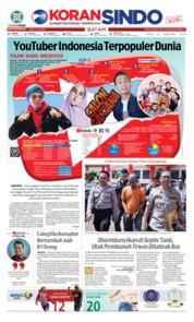 Cover KORAN SINDO BATAM 20 Februari 2019