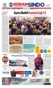 Cover KORAN SINDO BATAM 12 Maret 2019