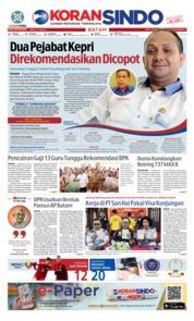 KORAN SINDO BATAM Cover 13 March 2019