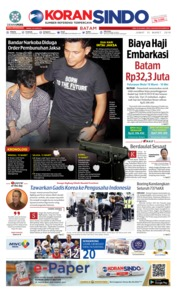 KORAN SINDO BATAM Cover 15 March 2019