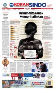 Cover KORAN SINDO BATAM 18 Maret 2019
